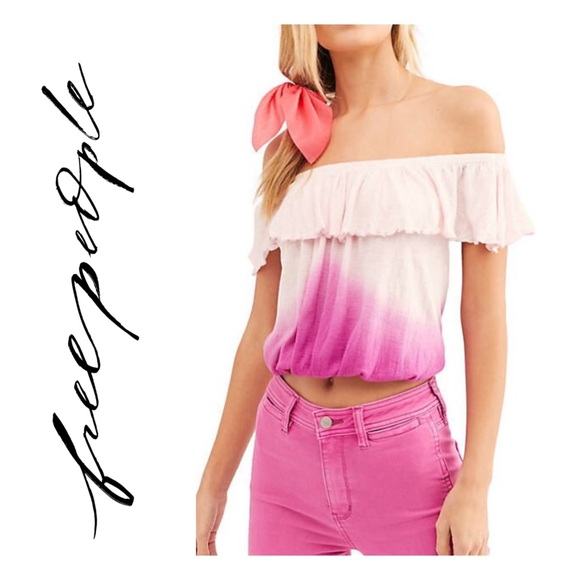 Free People Tops - Free People Raspberry Off-The-Shoulder Top